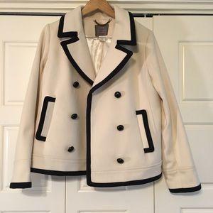 J. Crew Jackets & Blazers - Navy tipped ivory pea coat