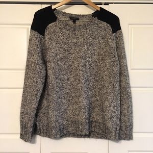 J. Crew Sweaters - Gray with black shoulder sweater