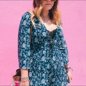 Show Me Your MuMu Dresses - Navy Floral Romper