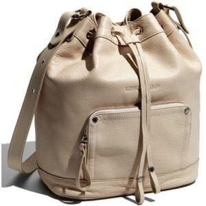 Longchamp Leather Crossbody Bucket Bag