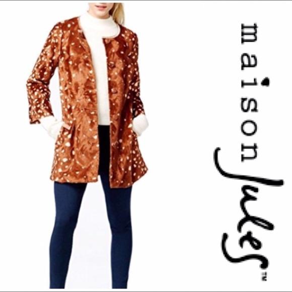 84ffd6b45daf Maison Jules Jackets & Coats   Sale Faux Fur Peanut Coat   Poshmark