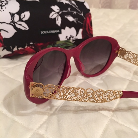 54002e35369 Dolce   Gabbana Accessories - New Dolce   Gabbana Sunglasses Red Gold Auth