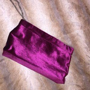 Zara velvet clutch bag