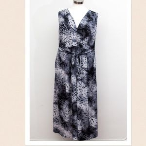 SWAK Dresses & Skirts - SWAK - Animal Print Belted Maxi - Size 5X