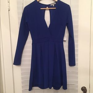 Charlotte Russe Long Sleeve Dress with Deep-V