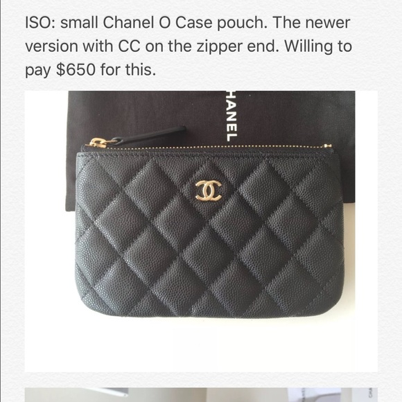 CHANEL Accessories   Iso Small O Case Pouch   Poshmark f2a5ae2d3a