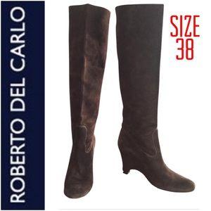 Roberto Del Carlo Knee High Suede Boots