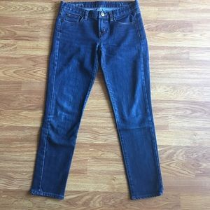 J. Crew Dark Blue Toothpick Ankle Jeans