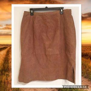 Ashley Stewart Dresses & Skirts - Plus Size Genuine Leather Skirt