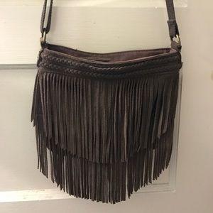 AEO crossbody fringe bag
