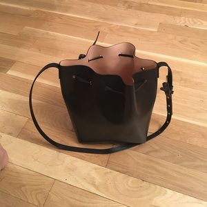 mansur gavriel pink bucket bag!