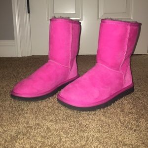 Hot Pink Classic Short Ugg Boots