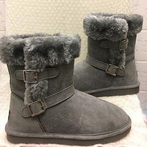 Lamo Shoes - LAMO Suede Boots Faux Fur