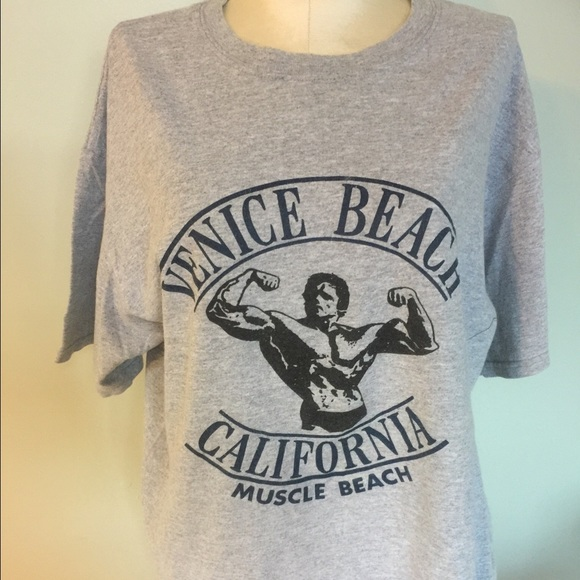 70de0122 anvil Shirts | Vintage Venice Beach Muscle Beach T Shirt Tee | Poshmark