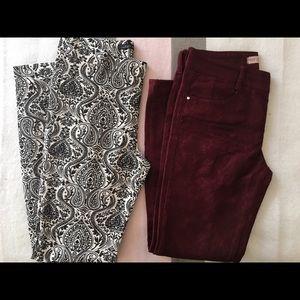 Two ZARA pants. Size 6.