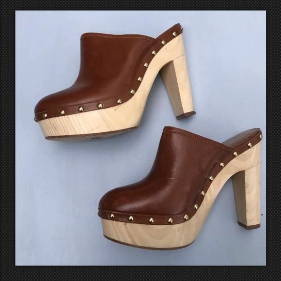 wooden clogs high heels