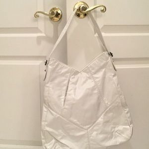 Ananas white leather shoulder bag perfect
