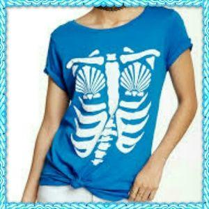 Wildfox mermaid x ray tee shirt  xs