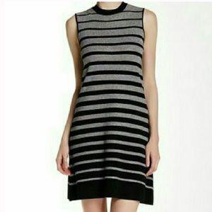 ECI Dresses & Skirts - NWT Med ECI Sleeveless Silver Black Dress