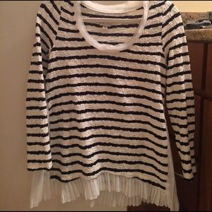 Anthropologie Pleated Trim Top