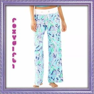 LILLY PULITZER BEACH PANTS Lavender Nice Ink