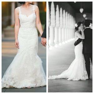 "Enzoani Dresses & Skirts - Enzoani ""Hanako"" White lace wedding dress"