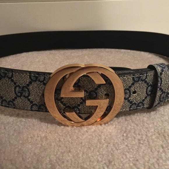 7241efced Gucci Accessories   Belt 42 105 Cm Goldbeigeblack   Poshmark