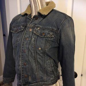 Other - Denim Jacket with Faux Trim