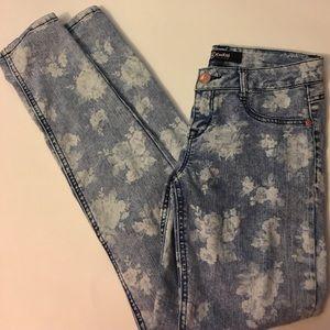 Rewash Pants - Skinny floral jeans