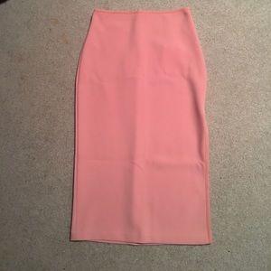 Bec & Bridge Dresses & Skirts - Pink midi pencil skirt with side slit
