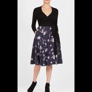 eshakti Dresses & Skirts - New Eshakti Fit & Flare Floral Wrap Dress XL 18