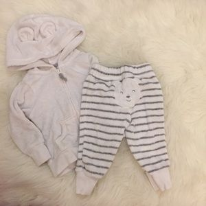 Carter's Other - Carter's Beary Cute Terry Jacket & Pant Set