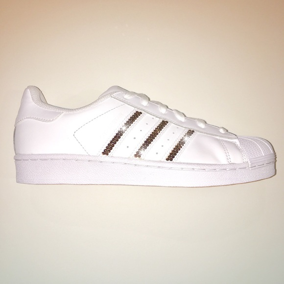 3be6d646b63 Adidas Shoes | Swarovski Superstars With Rose Gold | Poshmark