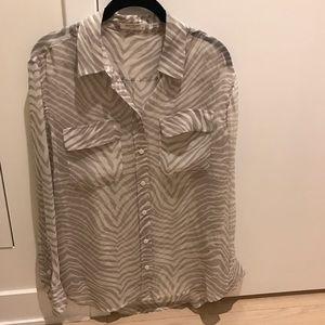 Equipment Tops - Equipment Femme Blouse Zebra Print