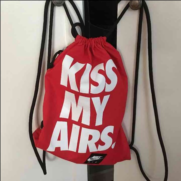 Deformar rechazo Vicio  Nike Bags | Air Kiss My Airs Bag Gym Backpack Asos | Poshmark