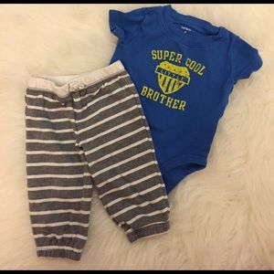 Carter's Other - Super Cool Little Brother Onesie & Pant Set 6M