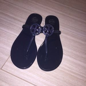 Tory Burch mini miller jelly sandals size 9 navy