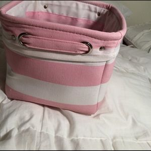Uncommon Handbags - BOGO NWOT PINK & WHITE STRIPED STORAGE