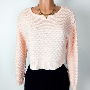 New! NASTY GAL blush pink crop sweater