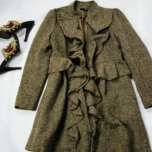 Ryu Jackets & Blazers - [Ryu] Ruffle Trim Coat
