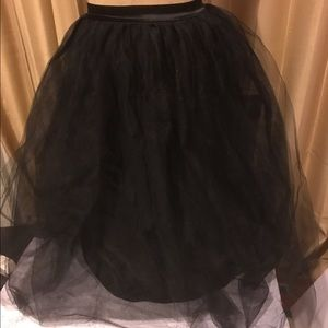 Nasty Gal XXS tulle skirt black long