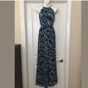 New Cache leopard maxi dress gown formal Sz 10