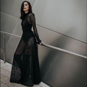 Style Link Miami Dresses & Skirts - ▫️LUXE▫️BLACK SHEER MESH MAXI DRESS