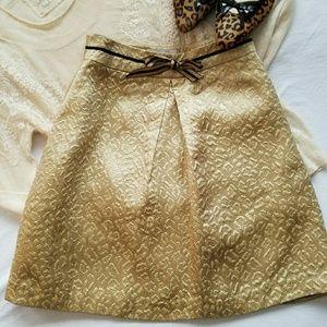 Corey Lynn Calter  Dresses & Skirts - Corey Lynn Calter gold brocade skirt size 2