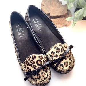 Volatile Shoes - Volatile Pony Hair Leopard Print Loafers