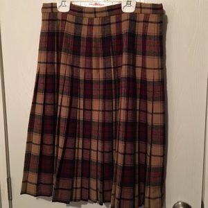 Glenisla Ltd Dresses & Skirts - Wool blend plaid skirt