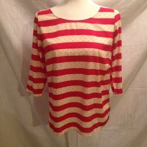 Everly Tops - Everly 3/4 sleeve striped top
