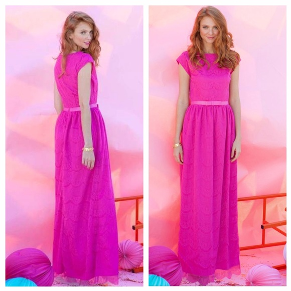 14075c5d6351a Shabby Apple Dresses | Alice Maxi Dress Size 2 Hot Pink | Poshmark