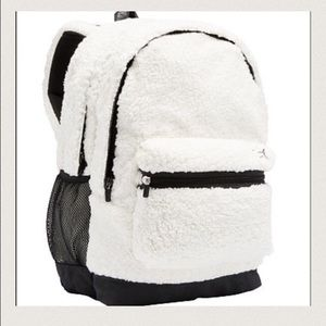 Pink VS Sherpa Campus backpack Snow White