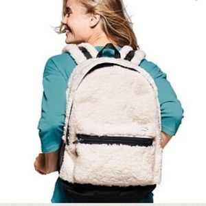 PINK Victoria's Secret Handbags - Pink VS Sherpa Campus backpack Snow White